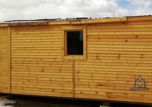 Бытовка деревянная Быт-00, 6,0х2,3м b0