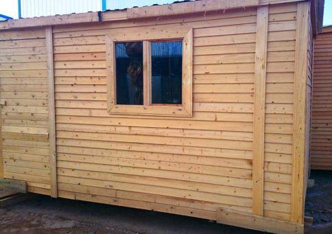 Бытовка деревянная Быт-00, 6,0х2,3м b2