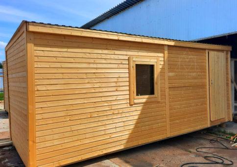 Бытовка деревянная Быт-00, 6,0х2,3м b