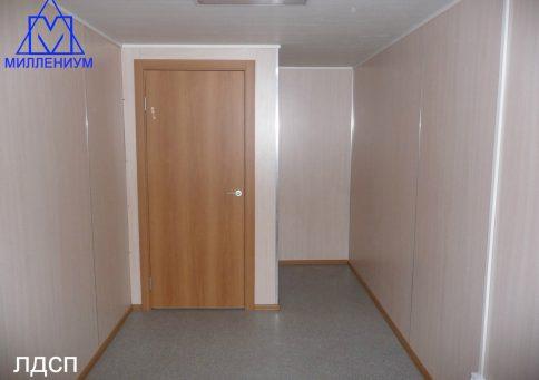 Блок-контейнер офисный с тамбуром 6,0х2,4х2,6м b1