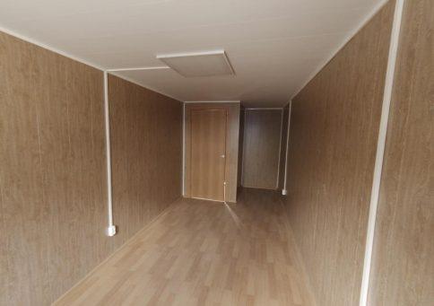 Блок-контейнер офисный с тамбуром 6,0х2,4х2,6м b2