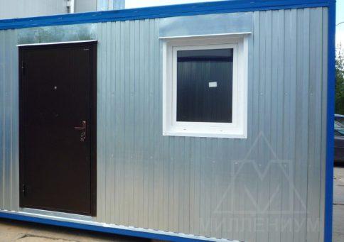 БК-02 с ПВХ окном распашонка (ПВХ панели) b1