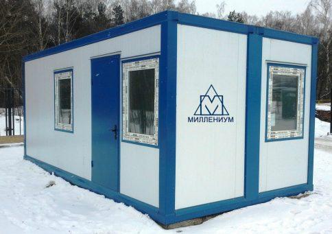 Блок-контейнер из сэндвич панелей офис 6,0х2,4х2,6м b0