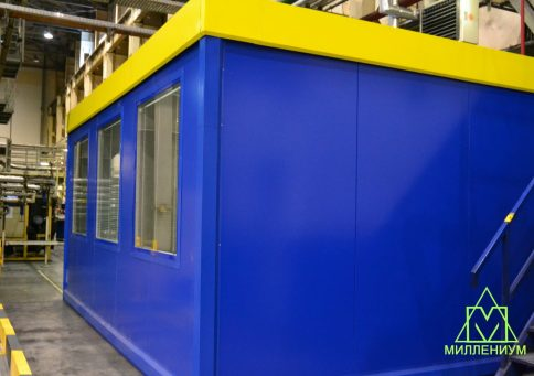 Блок-контейнер из сэндвич панелей офис 6,0х2,4х2,6м b1