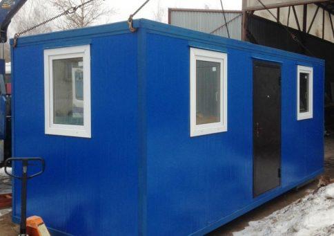 Блок-контейнер из сэндвич панелей офис 6,0х2,4х2,6м b
