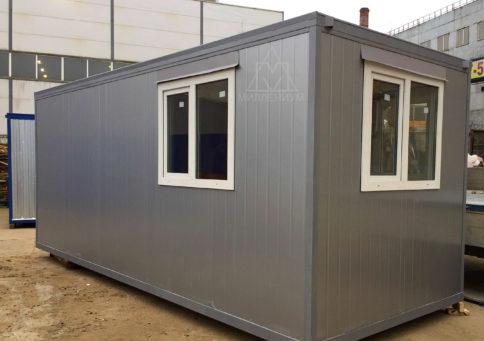 Блок-контейнер офисный с тамбуром 6,0х2,4х2,6м b