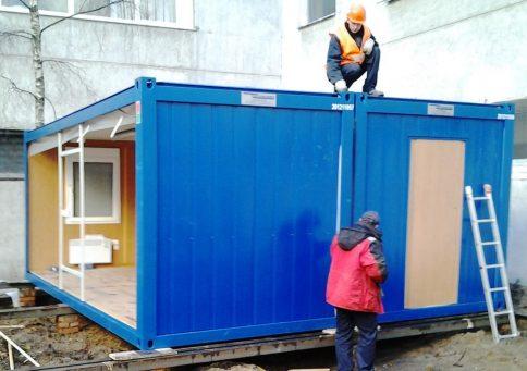 Штаб Containex 6,0х4,8м (Контейнекс) из двух блок-контейнеров b0