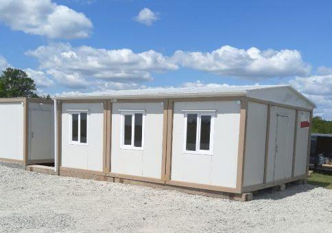 Модульное здание из 10-ти бытовок (один этаж) b1