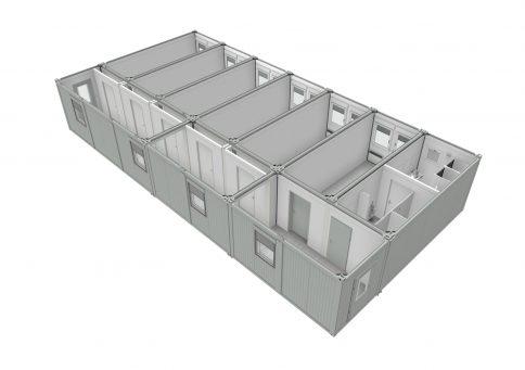 Модульное здание из 10-ти бытовок (один этаж) b3