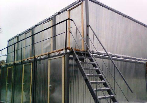 Модульное здание из 10-ти бытовок (два этажа) b1