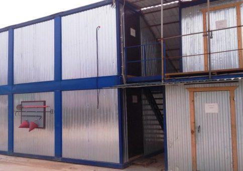 Модульное здание из 10-ти бытовок (два этажа) b2