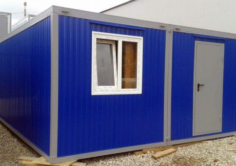 Модульное здание с цветным профнастилом b0