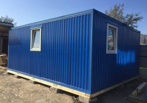 Модульное здание с цветным профнастилом b4