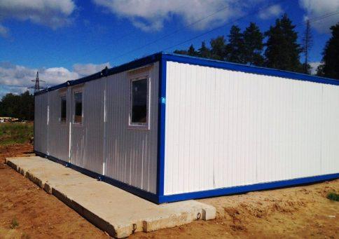 Модульное здание 6,0х7,2м из трех блок-контейнеров b0