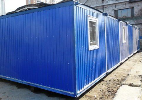 Модульное здание 6,0х7,2м из трех блок-контейнеров b1