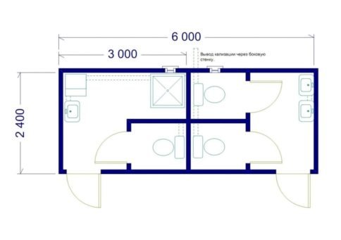 Модуль сантехнический: СТ-02 (туалет душ) b