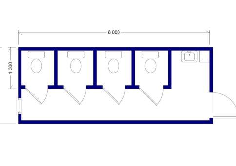 Модуль сантехнический: СТ-04 (туалет) b