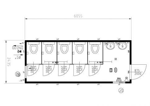 Блок-контейнер 20″ Containex  6,0х2,4м (Контейнекс) b11