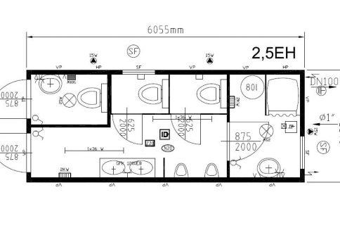 Блок-контейнер 20″ Containex  6,0х2,4м (Контейнекс) b12