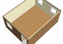 Модульное здание 6,0х7,2м из трех блок-контейнеров scheme4