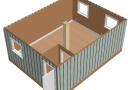 Модульное здание 6,0х7,2м из трех блок-контейнеров scheme3