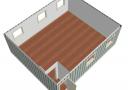Модульное здание 6,0х7,2м из трех блок-контейнеров scheme2