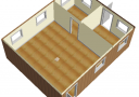 Модульное здание 6,0х7,2м из трех блок-контейнеров scheme0