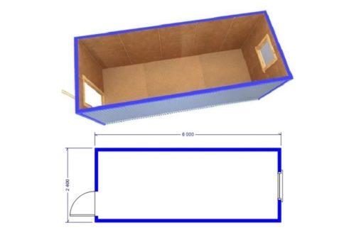 Схема блок-контейнера (бытовки) БК-00 b6