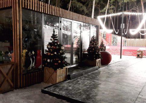 Торговый павильон ТП-00 с декоративной отделкой b15